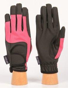 Handschoenen SuperGrip pink/black.