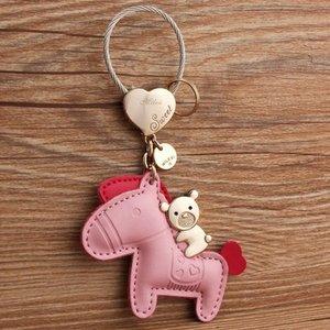 Tassieraad sleutelhanger Pink pu leather.