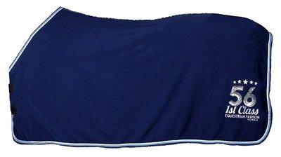 Fleecedeken Horka Sequin blauw.