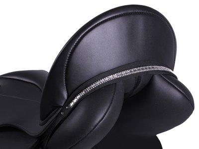 Zadelsieraad Britney zwart/zilver.