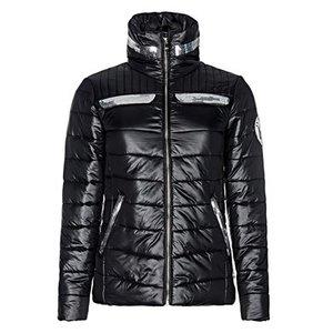 La Valencio winterjas zwart.